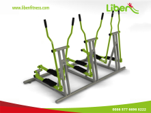 Triplicate Elliptical Cross-trainer