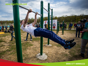 Successful project for outdoor fitness station in Russia