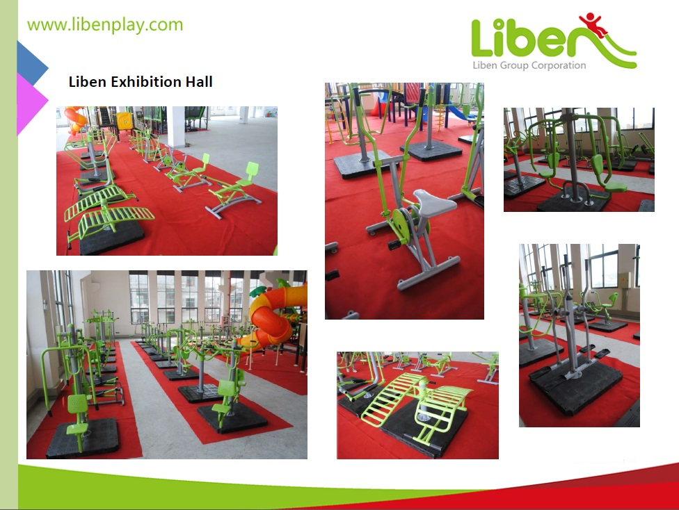 showrooms in outdoor park exercise equipment manufacturer