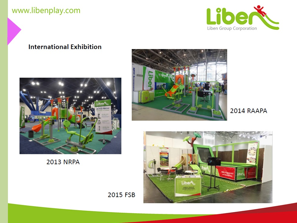 trade shows of outdoor park exercise equipment manufacturer